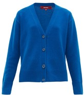 Sies Marjan Olga V-neck Wool-blend Cardigan - Womens - Blue