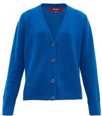 Sies Marjan Olga V-neck Wool-blend Cardigan - Womens - Blue