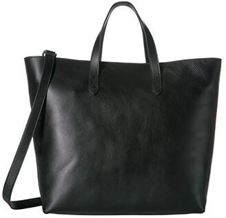 Madewell The Zip Top Transport Carryall (True Black) Handbags