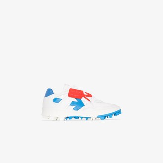 Off-White white Mountain Cleats leather sneakers