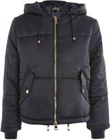 Topshop PETITE Hooded Puffer Jacket