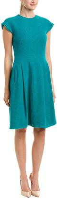 Oscar de la Renta Silk-Lined Wool-Blend A-Line Dress