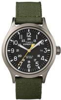 Timex Expedition Men's Black Dial Green Nylon Strap Watch