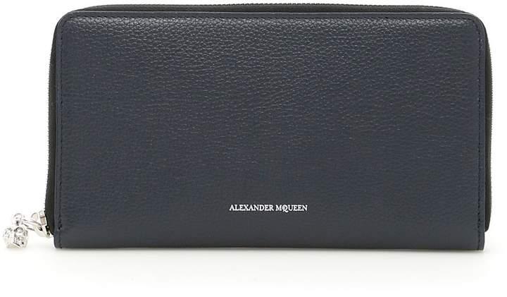 Alexander McQueen Zip-around Leather Wallet