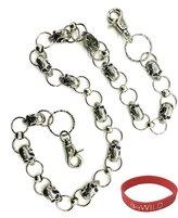 BeWild Skull Pile Chain of Skulls Jean Chain