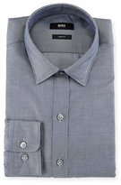 HUGO BOSS Sharp-Fit Micro-Pattern Dress Shirt, Navy