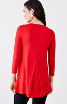 J. Jill Wearever Pleated-Back Top