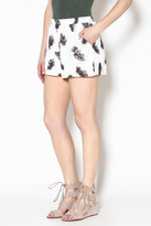 Entro Feather Print Shorts