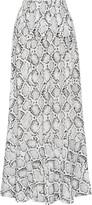 Vix Printed crepe maxi skirt
