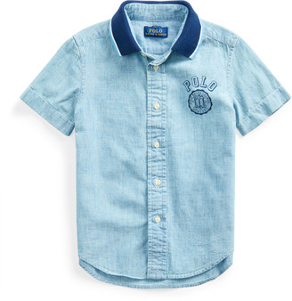 Ralph Lauren Polo-Collar Chambray Shirt