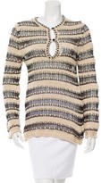 Etro Open Knit V-Neck Sweater