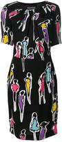 Moschino sketch print dress