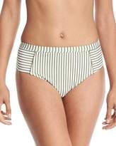 Splendid Picturesque High-Waist Striped Swim Bottom