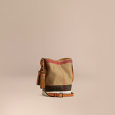 Burberry The Small Ashby in Canvas Check and Leather