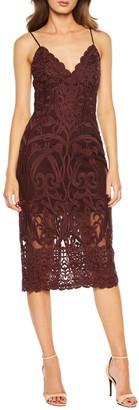 Bardot Gia Lace Pencil Midi Dress