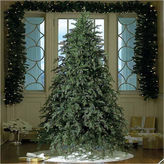 Asstd National Brand 9' Pre-Lit Down swept Hunter Fir Full Artificial Christmas Tree with Clear Lights