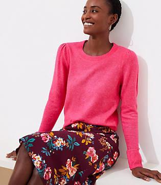 LOFT Petite Puff Sleeve Sweater