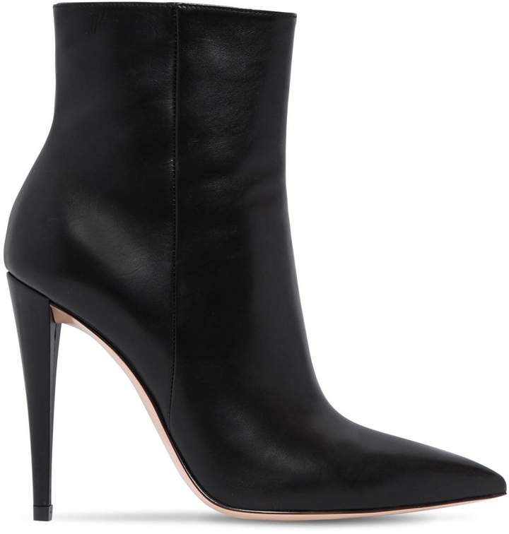 Gianvito Rossi 100mm Leather Ankle Boots