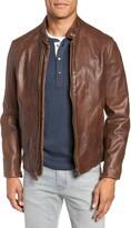 Schott NYC Cafe Racer Hand Vintaged Cowhide Leather Jacket
