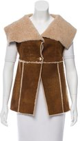 Chanel Shearling Collared Vest