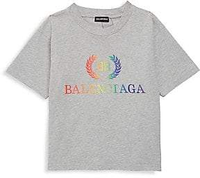 Balenciaga LIttle Kid's & Kid's Rainbow Logo Tee