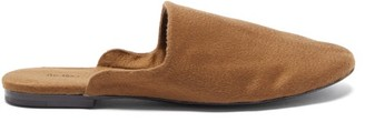 The Row Granpa Cashmere Backless Loafers - Camel
