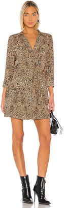 1 STATE Leopard Muse Patch Pocket Shirt Dress