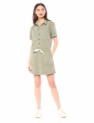 Lucky Brand Women's Button UP Drawstring Dress