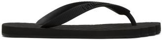 Vetements Black Flip Flop Toe Sandals