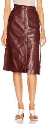 REMAIN Bellis Leather Skirt in Port Royale | FWRD