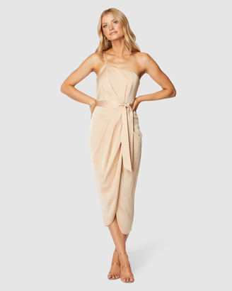 Pilgrim Women's Nude Midi Dresses - Bari Midi Dress - Size One Size, 10 at The Iconic