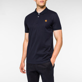 Paul Smith Men's Slim-Fit Navy Mercerised-Cotton PS Logo Polo Shirt