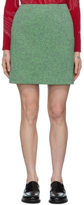 Namacheko Grey and Green Tasebar Miniskirt