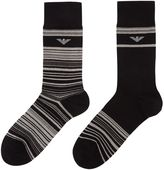 Emporio Armani 3 Pack Stripe And Solid Socks