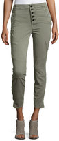 J Brand Brigitte Sky High Utility Cropped Cargo Pants, Gray