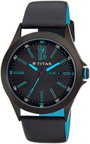 Titan Men's 9323NL01 Contemporary Dial Leather Strap Watch