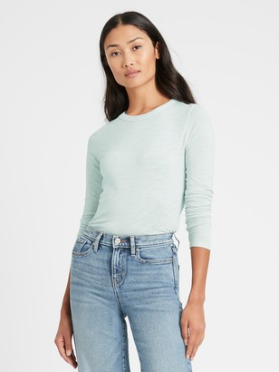 Banana Republic Slub Cotton-Modal Long-Sleeve T-Shirt
