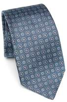 Kiton Medallion Pattern Silk tie