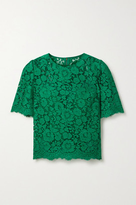 Dolce & Gabbana Corded Lace Top - Forest green