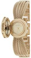 Anne Klein AK-1046CHCV Swarovski Crystal Accented Gold-Tone Covered Dial Mesh Bracelet Watch Watches