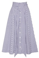 Lisa Marie Fernandez Gingham Cotton Midi Skirt