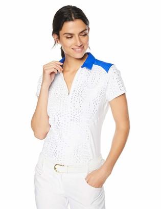 Annika by Cutter & Buck Women's Drytec Moisture Wicking UPF 50+ Cap Sleeve Jersey Polo Shirt