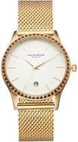 Akribos XXIV Women's Glimmer Crystal Stainless Steel Mesh Watch