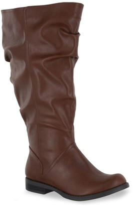 Easy Street Shoes Peak Plus Plus Women's Extra-Wide-Calf Riding Boots