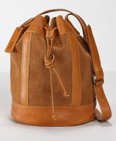 Blocked Suede Bucket Bag