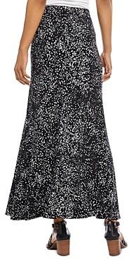 Karen Kane Flared Dot Print Maxi Skirt