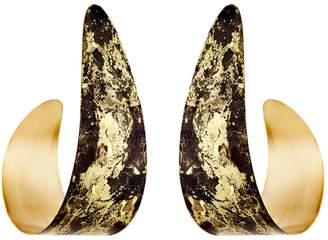 Design Studio Odell Serpent Earrings - Black & Gold