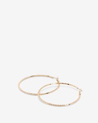 Express Twisted Textured Hoop Earrings