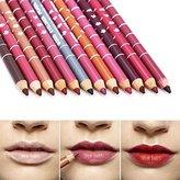 New 12 PCS Per Set Professional Lipliner Waterproof Pencil Lips Liner Pencil 15CM 12Colors