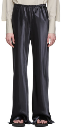 The Row Black Satin Gala Pants